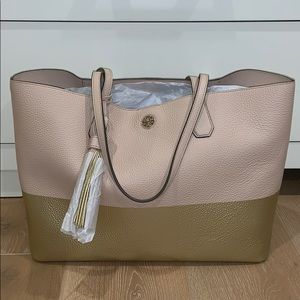 Tory Burch Colorblock Perry Tote Bag
